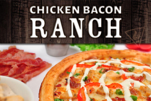 Try our new Chicken Bacon Ranch pizza!